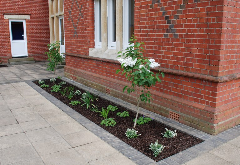 Mulch what is it why do it composted bark mulch lisa for Told in a garden designs