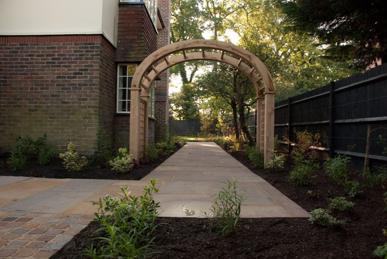 Timber Arch Lisa Cox Garden Designs Blog