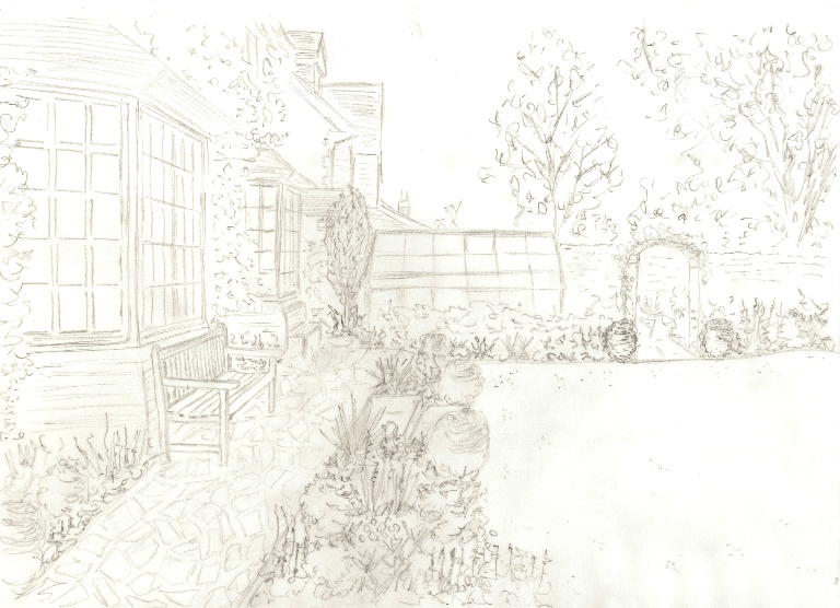 Working in leeds part 2 developing the design lisa cox for Garden design sketches