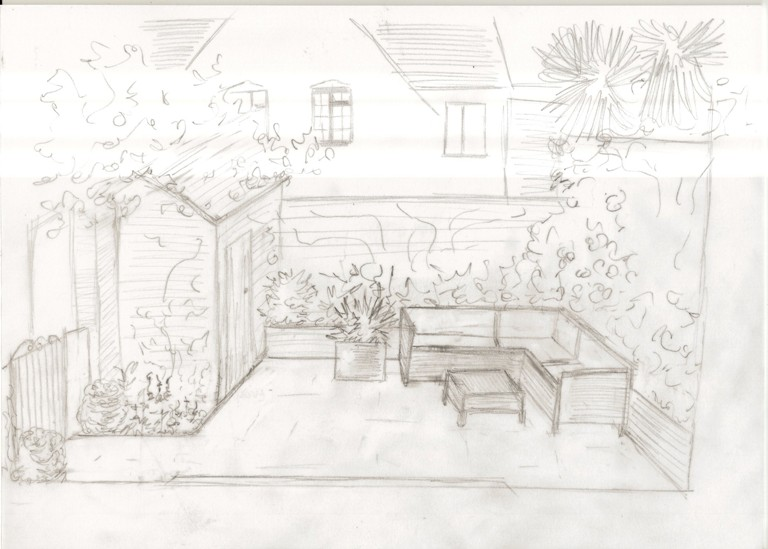 From the Drawing Board Concept design amp sketches for a  : Back Garden from Dining Room1 from blog.lisacoxdesigns.co.uk size 768 x 549 jpeg 89kB
