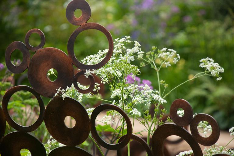 Copper sculpture in M&G Garden Chelsea Flower Show 2012 Andy Sturgeon