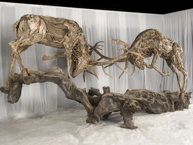 Amazing driftwood sculptures by james doran webb lisa for Driftwood sculptures for garden