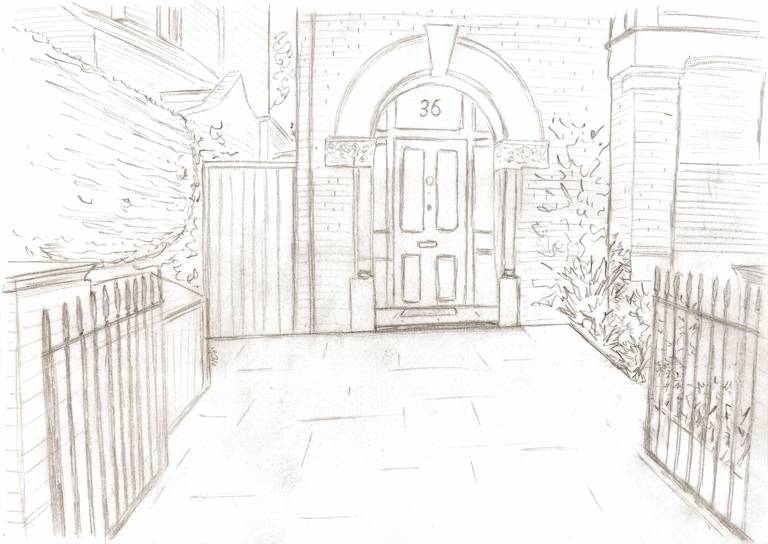 Specimen tree as a focal point lisa cox garden designs blog for Window design sketch