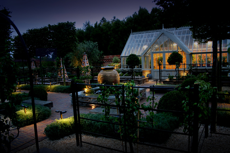 Walled garden in Berkshire - Lighting by Ornamental Garden Lighting