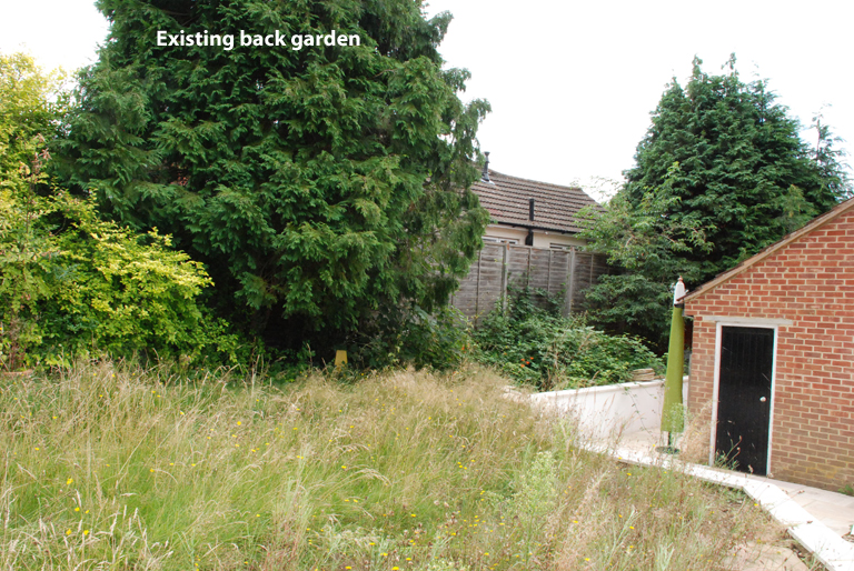 Existing back garden Leatherhead design project