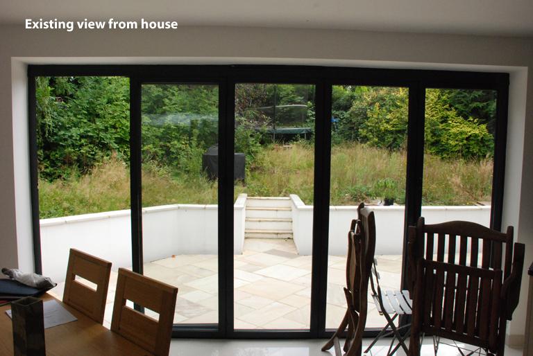 Existing garden Leatherhead design project copy