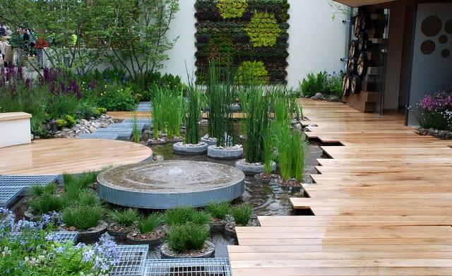 Rbc blue water roof garden chelsea 2013 lisa cox garden for Chelsea garden designs