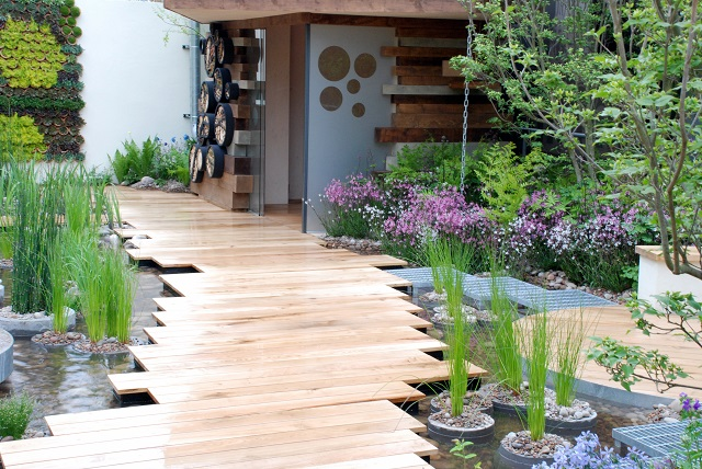 RBC Blue Water Roof Garden at Chelsea Flower Show 2013