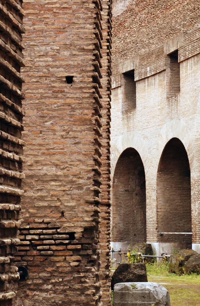 Walls in the Colosseum in Rome by Lisa Cox