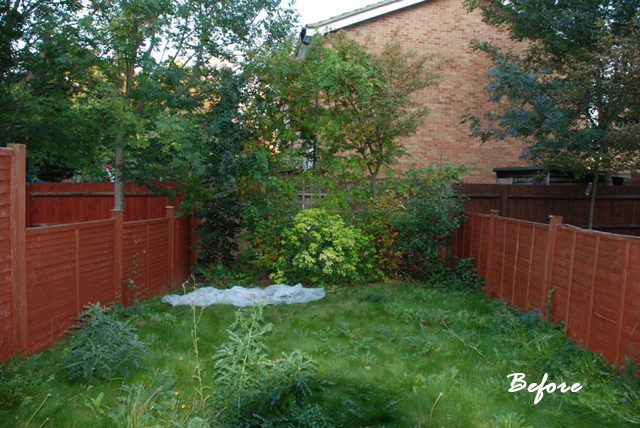 Back garden sutton before redesign Lisa Cox
