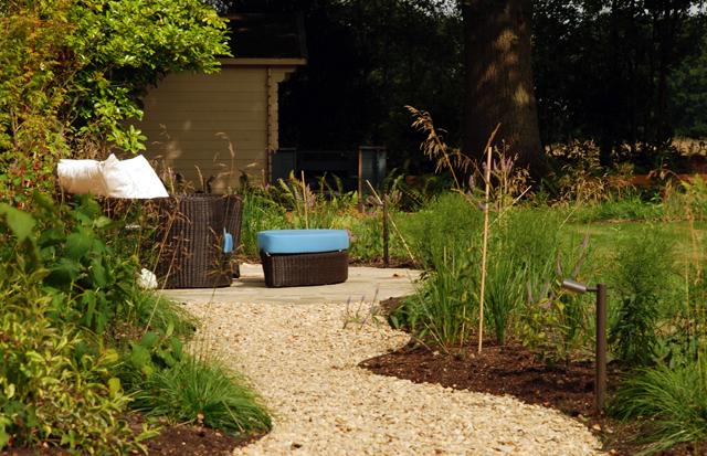 Barlow Tyrie lounger East Horsley Garden Design Lisa Cox