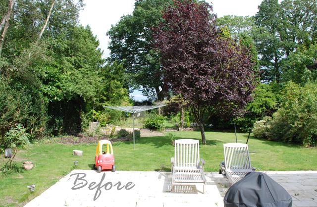 Horsley garden before redesign Lisa Cox Garden Designs
