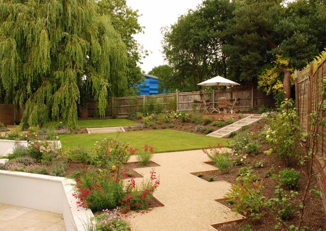 Back garden Leatherhead Lisa Cox Designs
