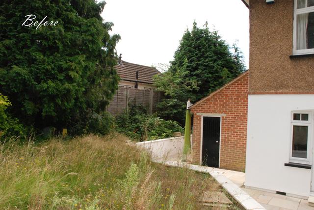 Leatherhead garden before clearance Lisa Cox