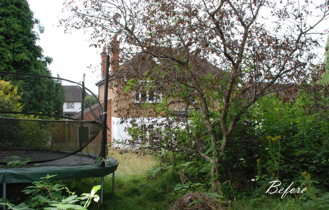 Leatherhead garden before redesign