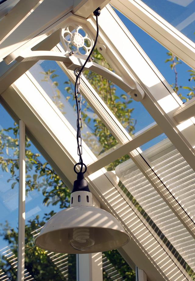 Standard light fitting in Allitex greenhouse