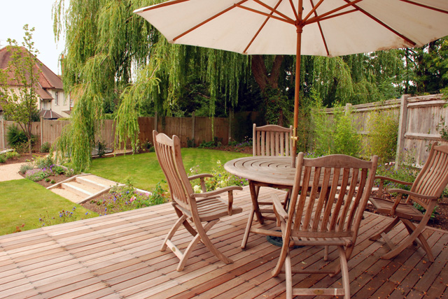 View from decking Lisa Cox Garden Designs