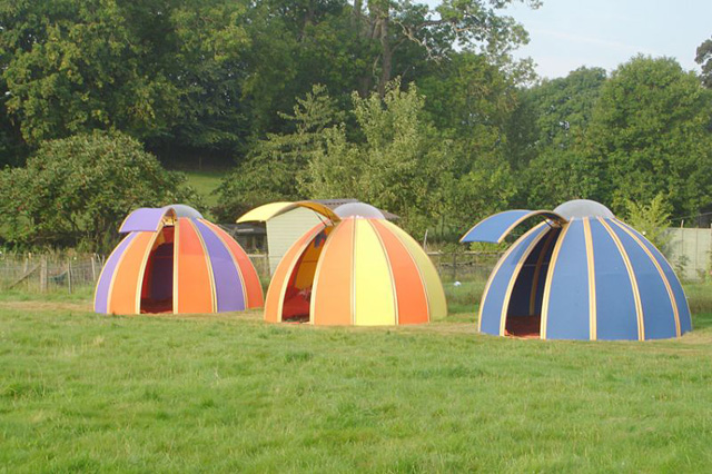Colourful pods by Unidome