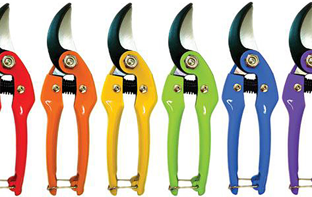 Colourful secateurs from Sarah Raven