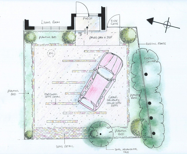 Driveway For 2 Cars Lisa Cox Garden Designs Blog
