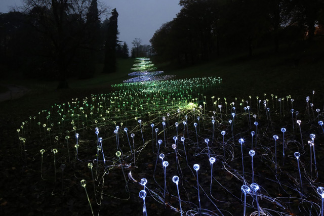 River of Light by Bruce Munro. Waddesdon Manor, National Trust. 2013. Photo by Mark Pickthall