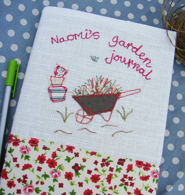 personalised garden journal from not on the high street
