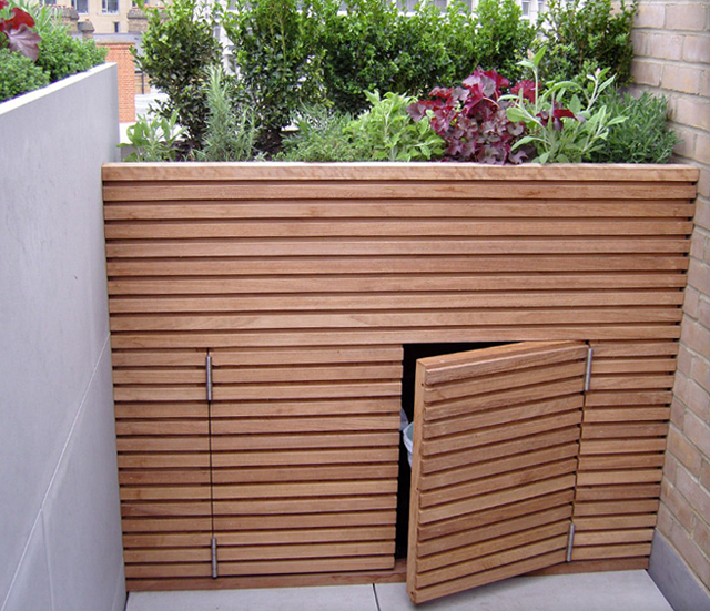 The Simple Bin Store Above Was Built By My Local Joiner, Rob Horton, But I  Know My Landscaper Has Subsequently Used Contemporary Trellis Kits From  Silva ...