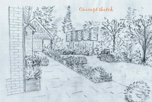 Concept Sketch of back garden The Dutch copy