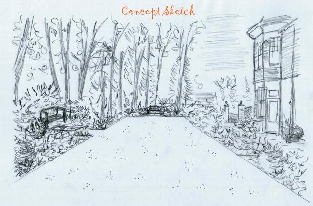 Concept design side lawn at The Dutch copy