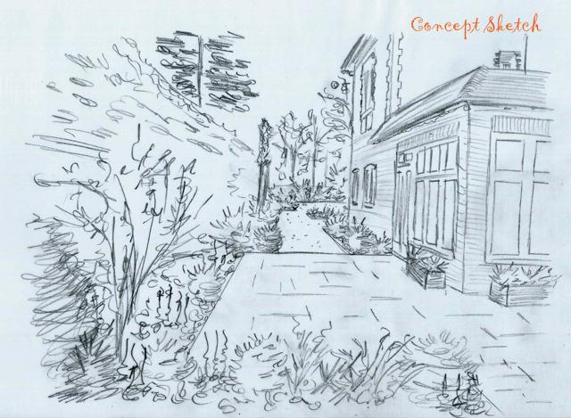 Concept sketch terrace area at The Dutch copy