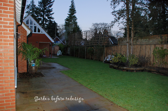 Garden before redesign Woking Lisa Cox Designs