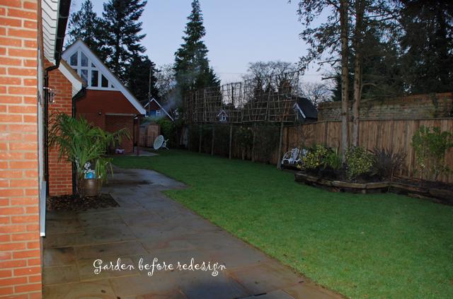 Garden before redesign Woking Lisa Cox Designs