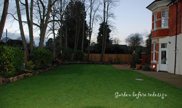 Garden in Woking before redesign Lisa Cox Designs