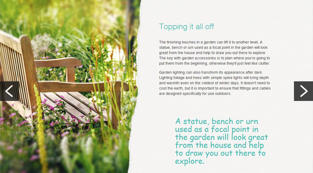 Topping it off - M&S Bank article by Lisa Cox Garden Designs
