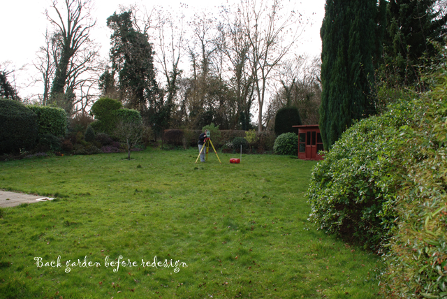 Back garden East Horsley before redesign Lisa Cox Designs