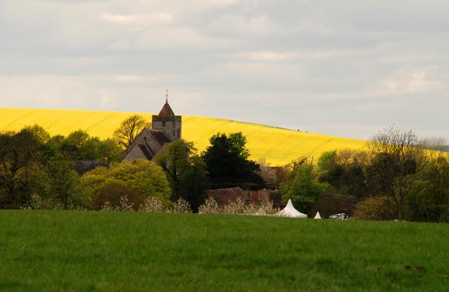 Church at West Firle Lisa Cox Garden Designs