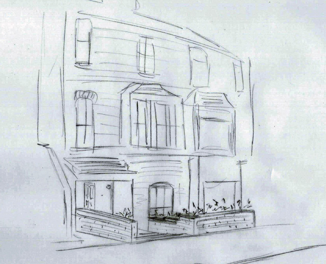 Concept sketch for Reigate front garden Lisa Cox