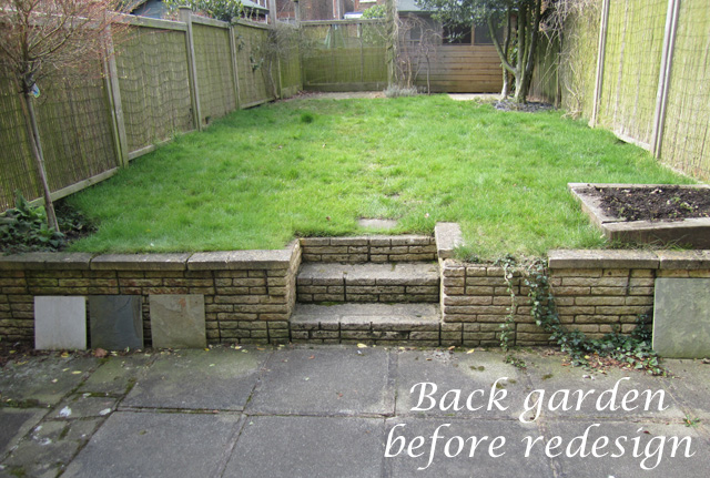 Reigate back garden before redesign Lisa Cox Designs