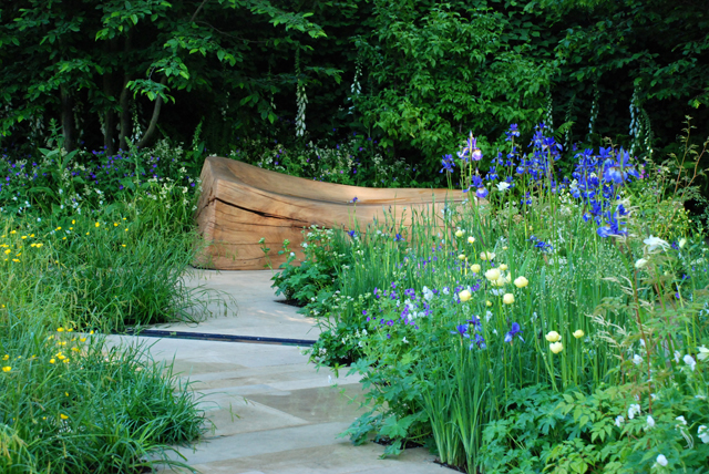 Bench in Homebase Garden RHS Chelsea 2014 Lisa Cox Designs