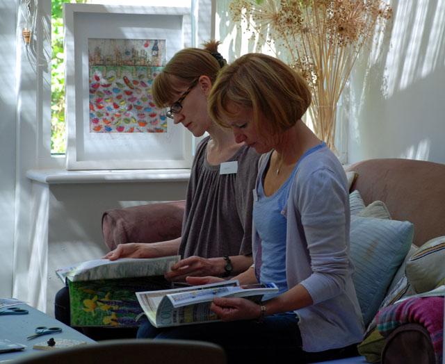 Mood board session garden design workshop Decor Cafe Lisa Cox