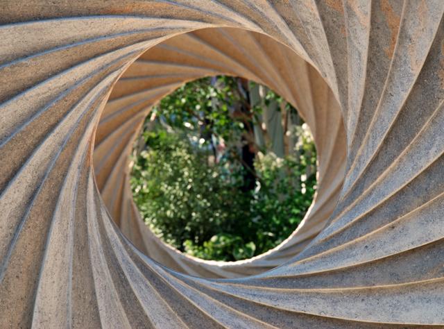 Stone sculpture by Nicolas Moreton RHS Chelsea 2014 Lisa Cox