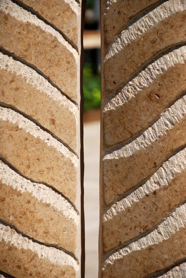 Stone sculpture by Nicolas Moreton at RHS Chelsea 2014 Lisa Cox