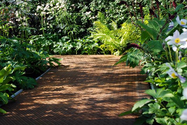 corten steel pathway in Hugo Bugg garden RHS Chelsea 2014 Lisa Cox