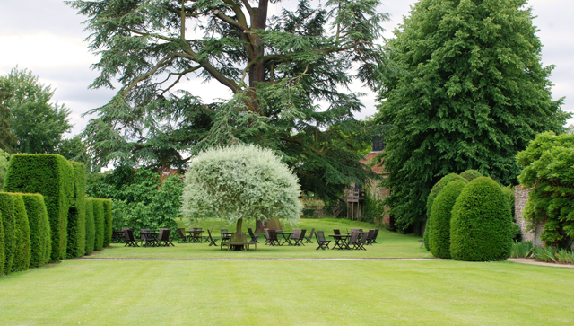 Cafe on the lawn at Loseley Park Lisa Cox Designs