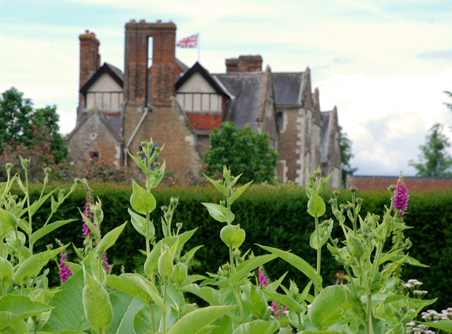 Loseley House from the Herb Garden Lisa Cox Garden Designs