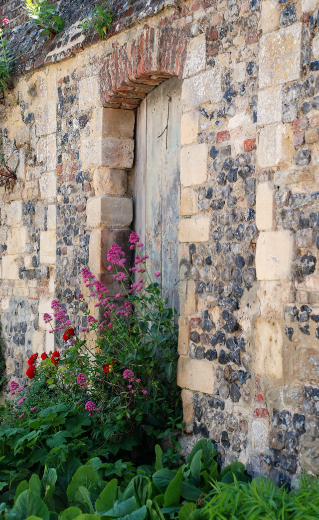 Stone wall and gateway Saint Valery Sur Somme Lisa Cox Designs