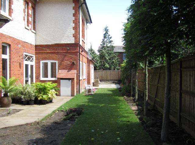 Woking garden during construction Lisa Cox Designs