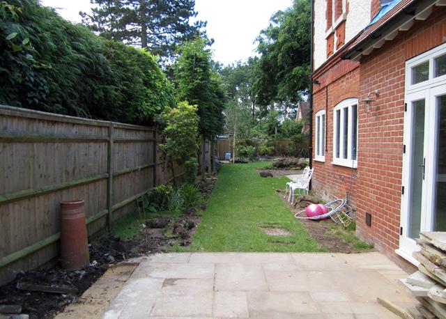 Woking project during construction Lisa Cox Garden Designs