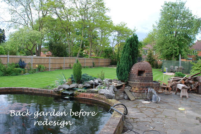 Ashtead back garden before redesign Lisa Cox Designs
