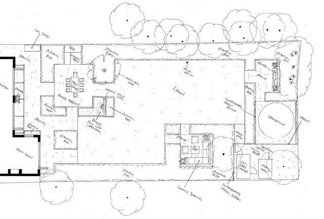 Back garden design Ashtead Lisa Cox Garden Designs